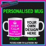 KEEP CALM IM A BEAUTY THERAPIST MUG PERSONALISED GIFT